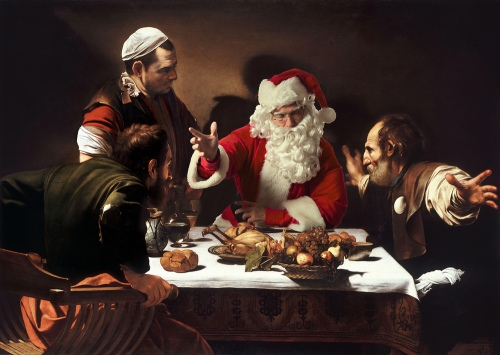 01-Caravaggio-Supper at Emmaus