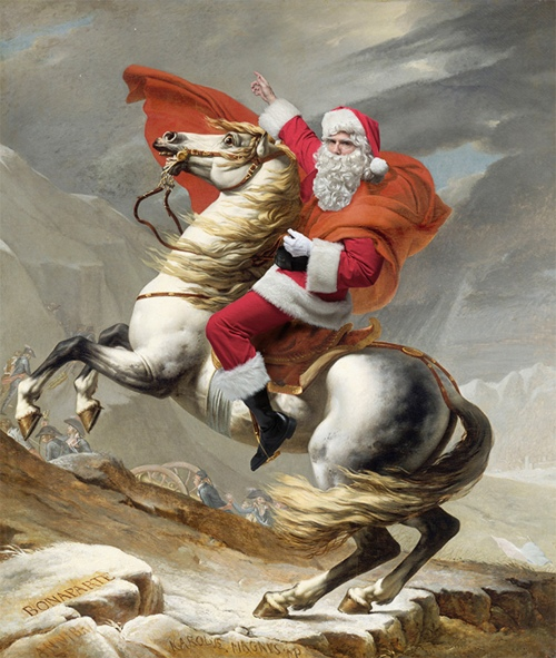 28-David-Napolean crossing the Alps May 20,1800