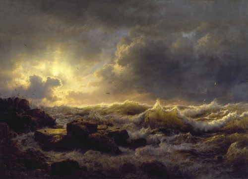 Andreas-Achenbach-Art-Painting-Clearing-Up-Coast-of-Sicily