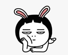 WeChat-Sticker-Elise-Cynical-Rabbit