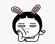 WeChat-Sticker-Elise-Cynical-Rabbit