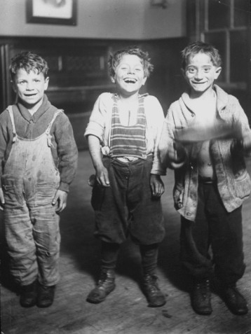 Typical street urchins who lived at Hull House in the 1920's.