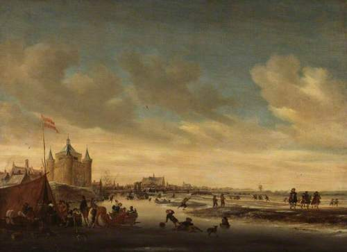 van Ruysdael, Salomon, c.1602-1670; Alkmaar in Winter